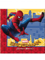20 servilletas de papel 33x33 Spiderman Homecoming™