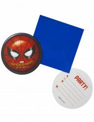 6 Invitaciones + sobres Spiderman Homecoming™