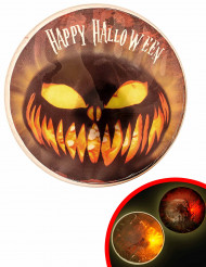 Distintivo luminoso LED 9 cm Halloween