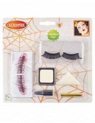Kit maquillaje muñeca boca cosida mujer Halloween