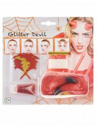 Kit de maquillaje demonio mujer Halloween