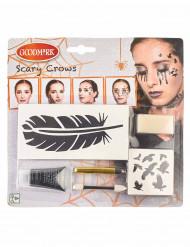 Kit maquillaje cuervo mujer Halloween