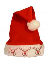 Gorro reno luminoso adulto Navidad
