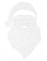 Decoración para ventana rostro de Papá Noel 35 cm