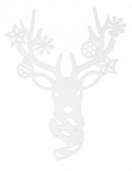 Decoración para ventana reno Navidad 35 cm