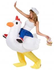 Disfraz de pollo inflable adulto