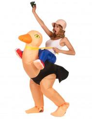 Disfraz de avestruz inflable adutlo