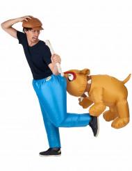 Disfraz inflable de perro bulldog adulto