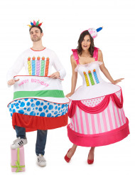 Disfraz de pareja tarta de cumpleaños