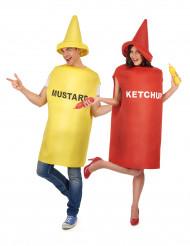Disfraz de pareja mostaza y ketchup