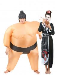 Disfraz de pareja Sumo y Geisha