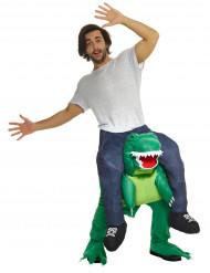 Disfraz hombre sobre espalda de dinosaurio Morphsuits™