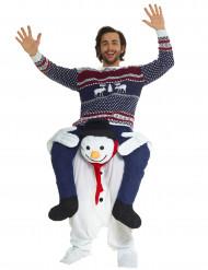 Disfraz hombre sobre muñeco de nieve adulto Navidad