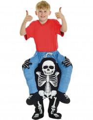 Disfraz hombre sobre hombros de esqueleto niño Halloween
