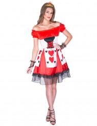 Disfraz reina de corazones para mujer sexy