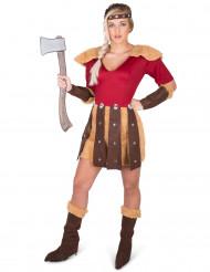 Disfraz vikingo de los dragones mujer