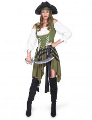 Disfraz de pirata verde mujer