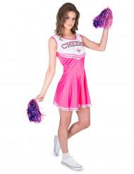 Disfraz de animadora rosa Cheers mujer