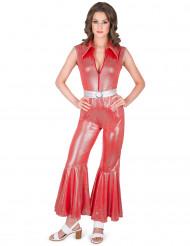 Disfraz traje disco rojo para mujer