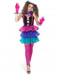 Disfraz de payaso Carnaval mujer