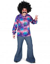 Camisa disco psicodélica hombre