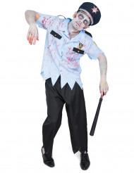 Disfraz agente de policía zombie hombre Halloween