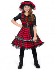Disfraz pirata del pacífico para niña