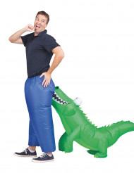 Disfraz inflable cocodrilo adulto