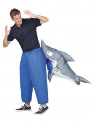 Disfraz inflable tiburón adulto