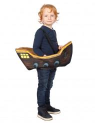 Disfraz pirata en barco niño