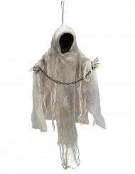 Decoración esqueleto con cadenas sin rostro luminoso colgante