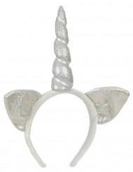 Diadema unicornio plata adulto