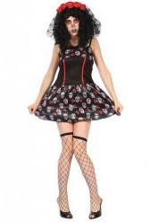 Disfraz calavera girly mujer Día de los muertos