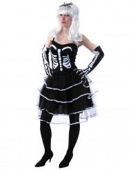 Disfraz princesa esqueleto mujer Halloween