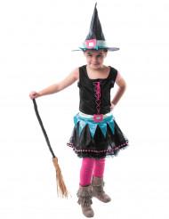Disfraz bruja multicolor niña Halloween