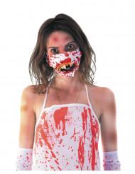 Mascara boca zombie ensangrentada adulto Halloween