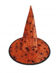 Sombrero bruja telaraña naranja niño Halloween