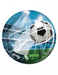 8 Platos de cartón 23 cm fútbol fans