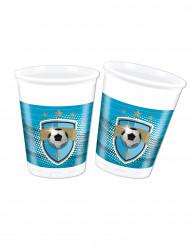 8 Vasos de plástico 20 cl fútbol fans