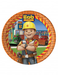 8 platos de cartón 23cm Bob y sus amigos