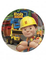 8 platos de cartón 20cm Bob y sus amigos