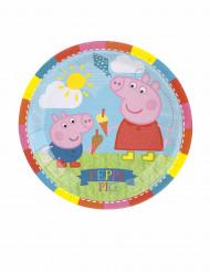 8 Platos pequeños de cartón Peppa Pig™