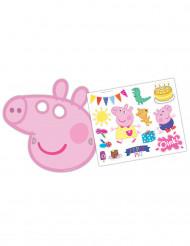 Pack 6 máscaras Peppa Pig™ y pegatinas