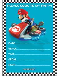 20 tarjetas de invitación + sobres Super Mario