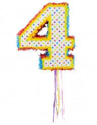 Piñata con el número 4