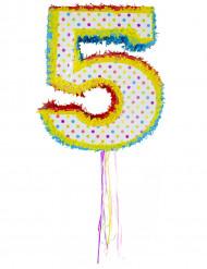 Piñata con el número 5