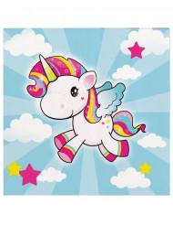 Servilletas de papel unicornio 33x33