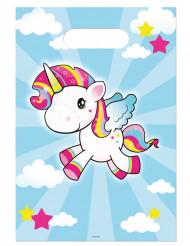8 bolsas para cumpleaños unicornio