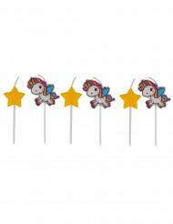 6 Velas unicornio
