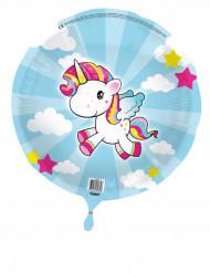 Globo de aluminio pequeño unicornio 45 cm